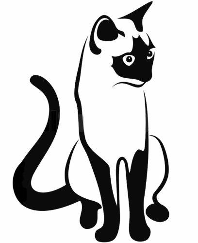 Chat siamois boutique stickers pas - Dessins de chats rigolos ...